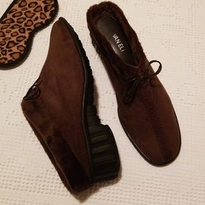 Vaneli Faux Fur Lined Mule Slippers 12M